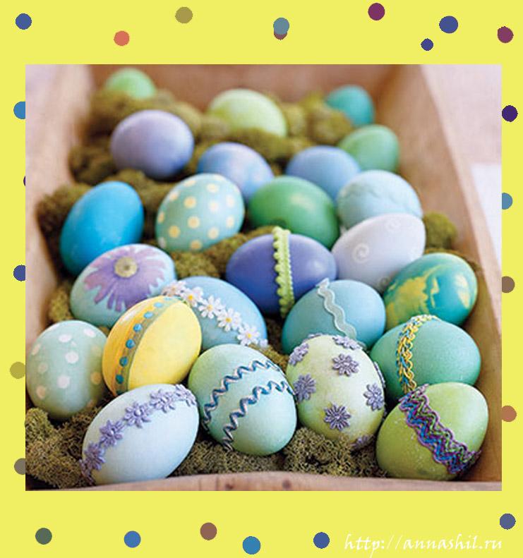 как покрасить яйца пасха