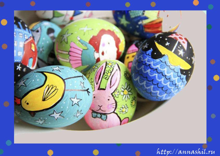 роспись пасхальных яйц